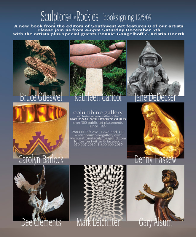 MEET CAROLYN BARLOCK AT SCULPTORS OF THE ROCKIES BOOK SIGNING AT COLUMBINE GALLERY